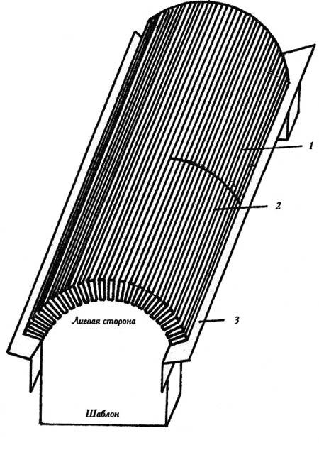 Работа с гипсокартоном - Крепление на шаблоне плиты с пропилами.