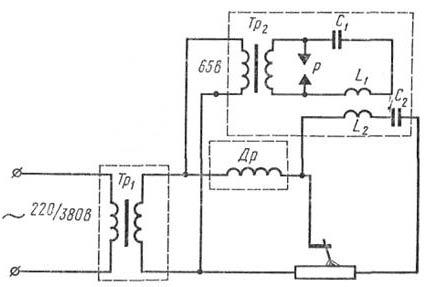 электрическая схема силового трансформатора